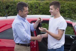 New teen driver getting car keys